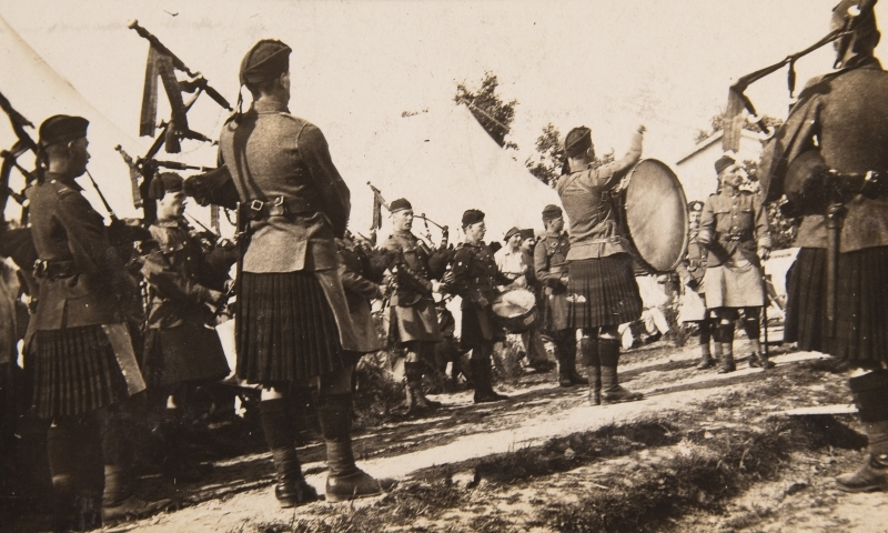 A & S Highlanders at Scottish Women's Hospital. Salonika.<br />