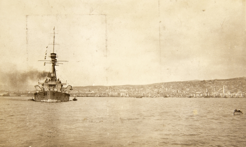 HMS Lord Nelson, Salonika Bay<br />