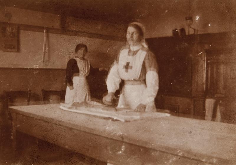 Nurse ironing