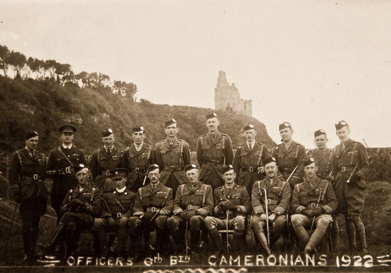 Officers of 6th Batallion Cameronians 1922<br />