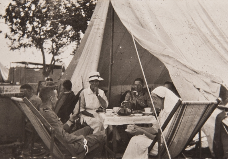 Tea party Salonique July 1916<br />