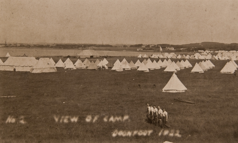 View of camp, Doonfoot 1922<br />