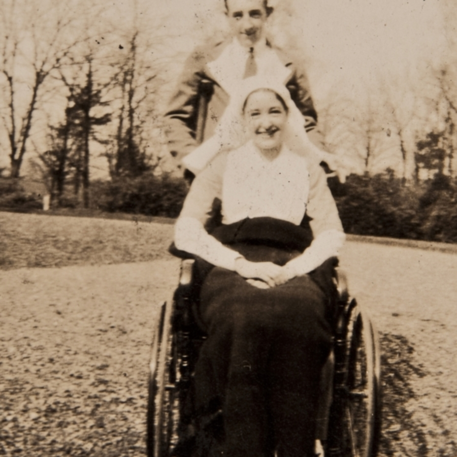 Allan in wheelchair<br />