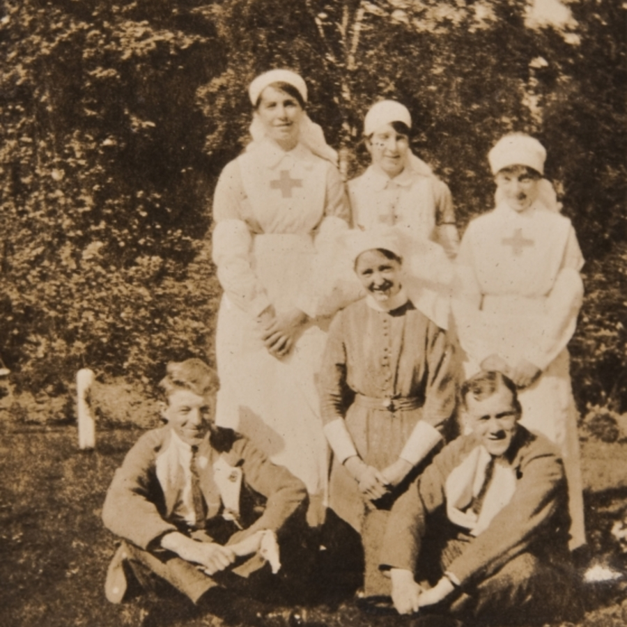 Allan with patients and nurses