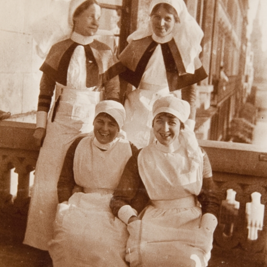 Group photograph including Sister Allan<br />