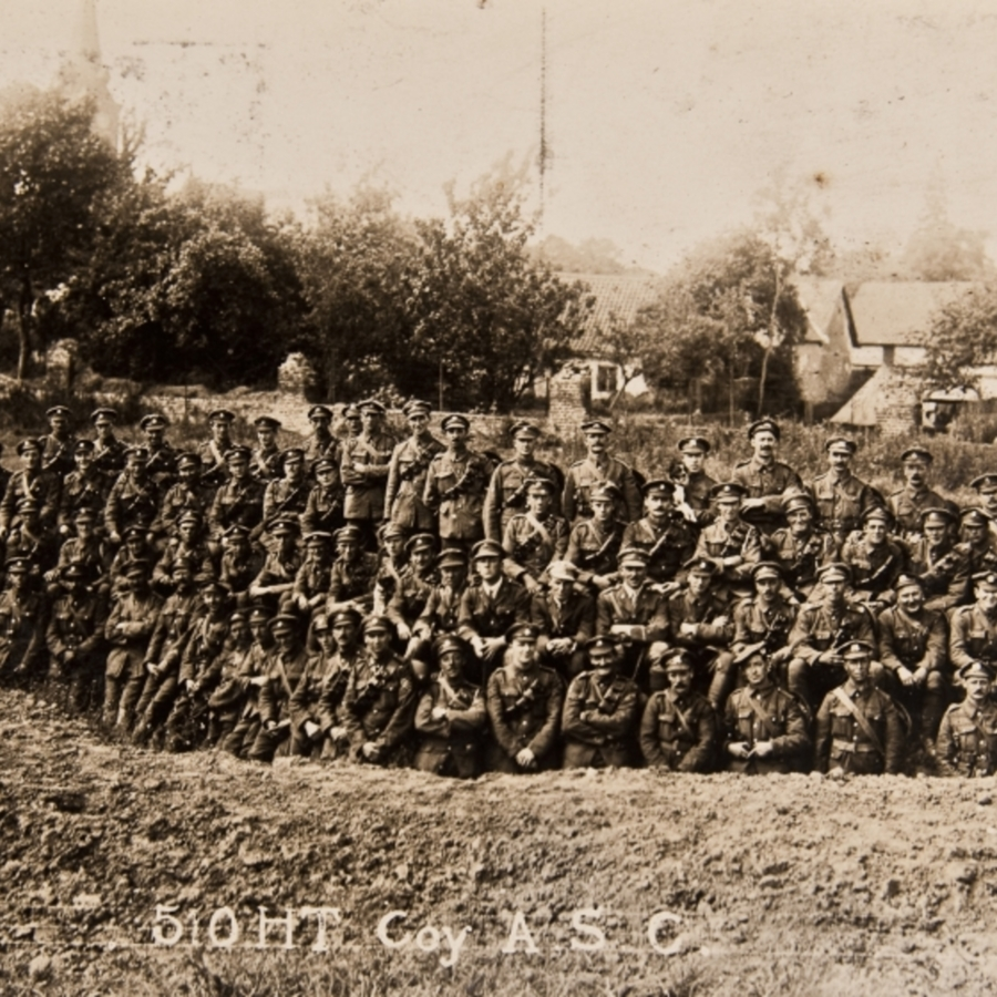 510 HT Coy ASC group photograph<br />