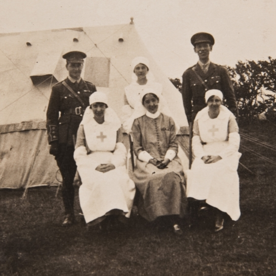 Nurses and officers