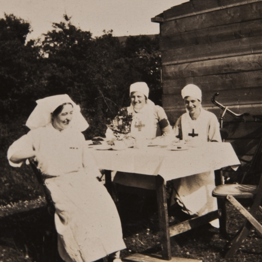 3 nurses having tea